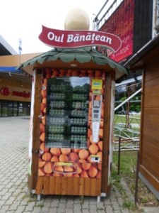 Timisoara Egg Vending Machine: great idea! If the markets are closed, you can still make yourself an omelet!
